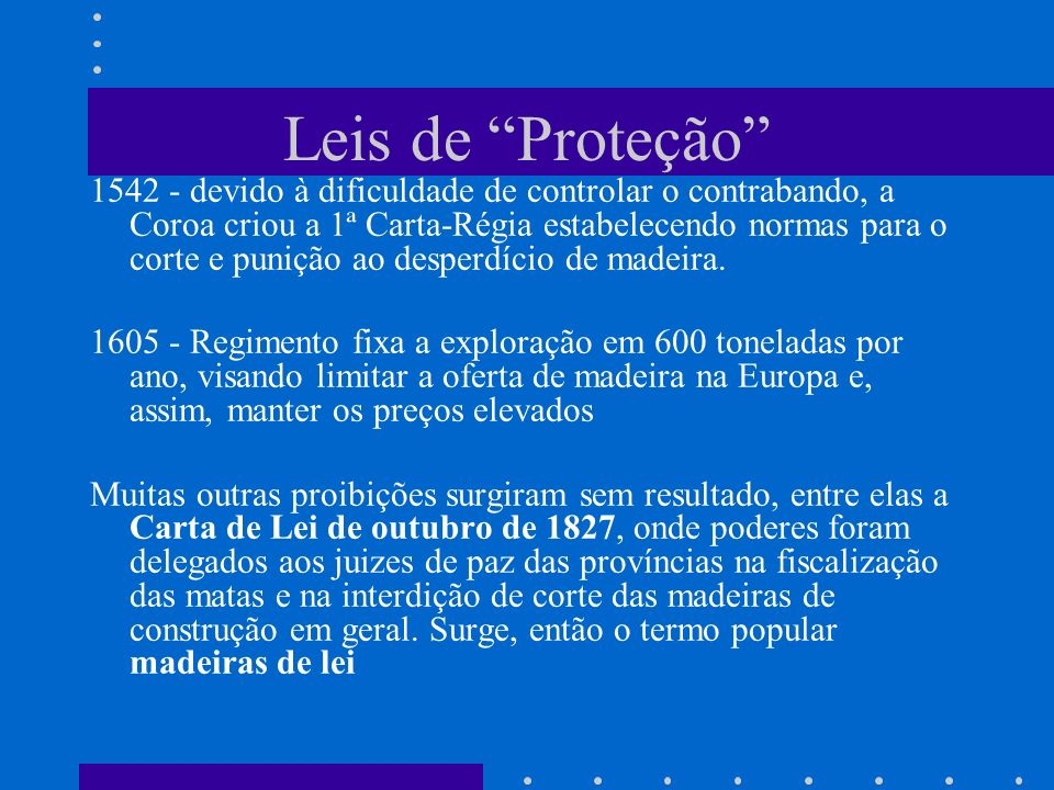 Leis de Proteção