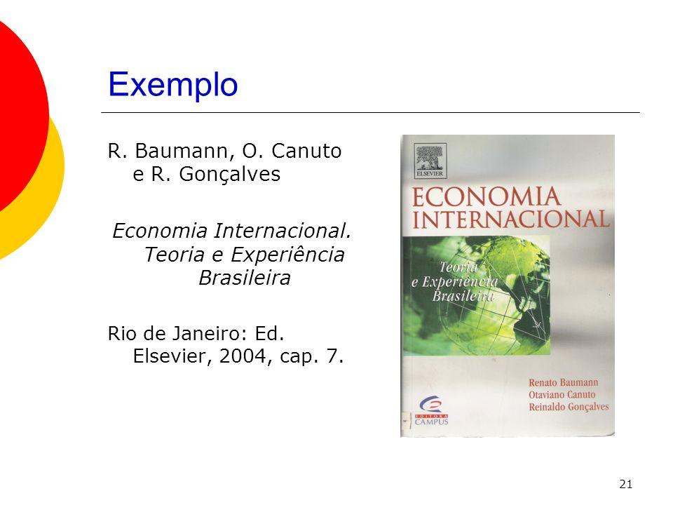 Economia Internacional. Teoria e Experiência Brasileira