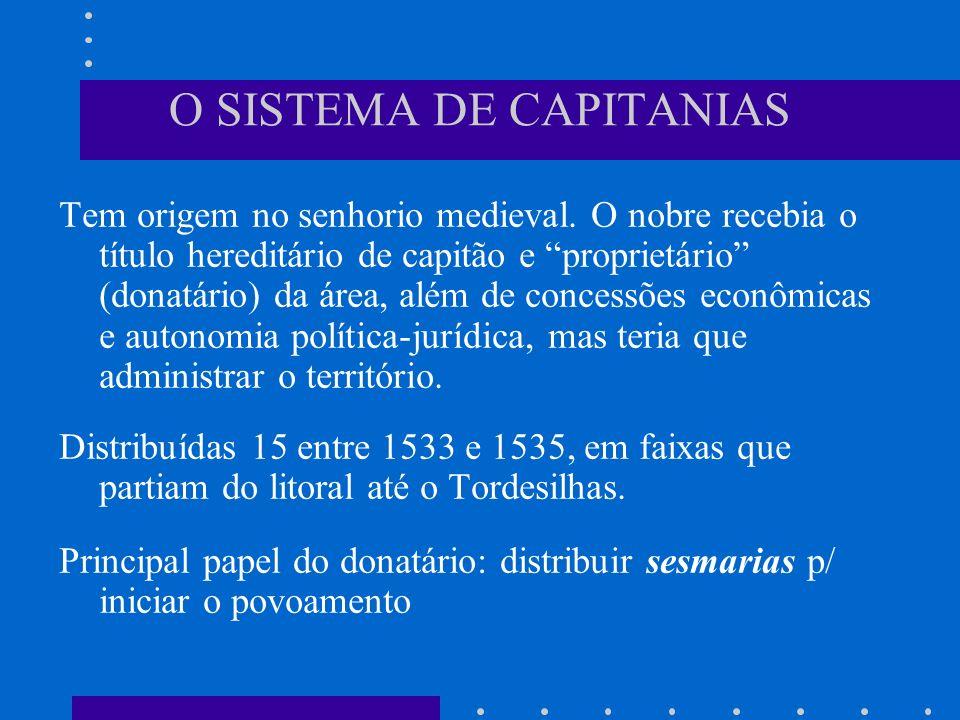 O SISTEMA DE CAPITANIAS