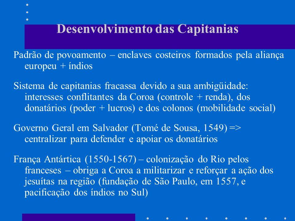 Desenvolvimento das Capitanias