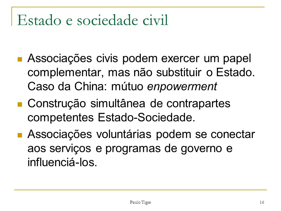 Estado e sociedade civil