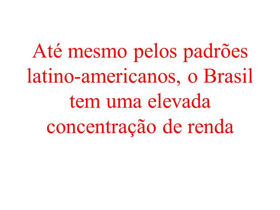 Até mesmo pelos padrões latino-americanos, o Brasil tem uma elevada concentração de renda