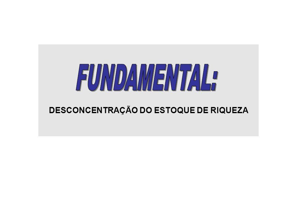 DESCONCENTRAÇÃO DO ESTOQUE DE RIQUEZA