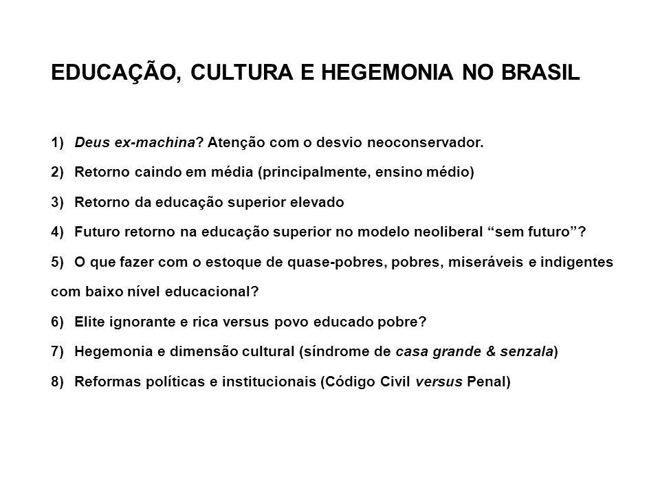 EDUCAÇÃO, CULTURA E HEGEMONIA NO BRASIL