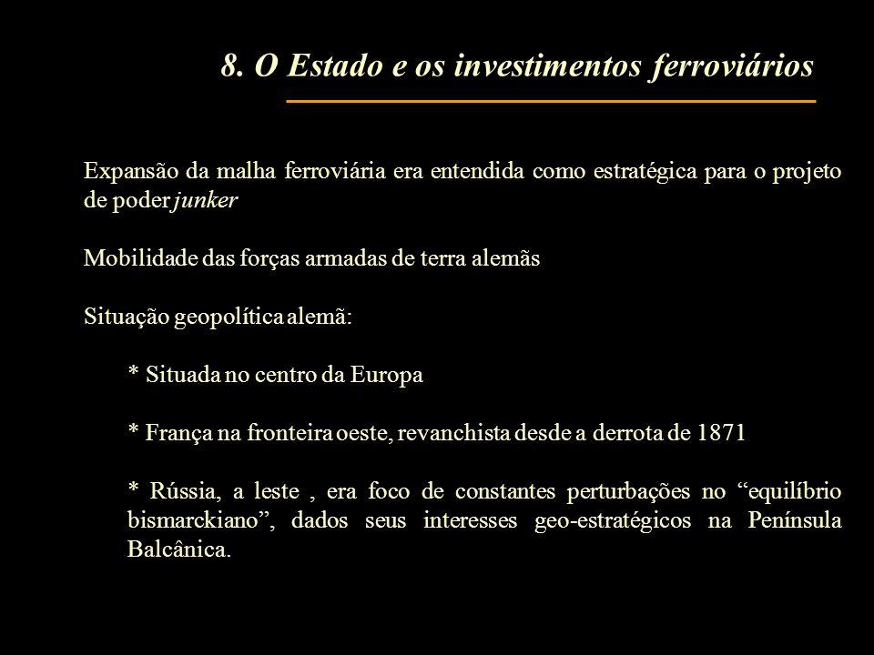 8. O Estado e os investimentos ferroviários