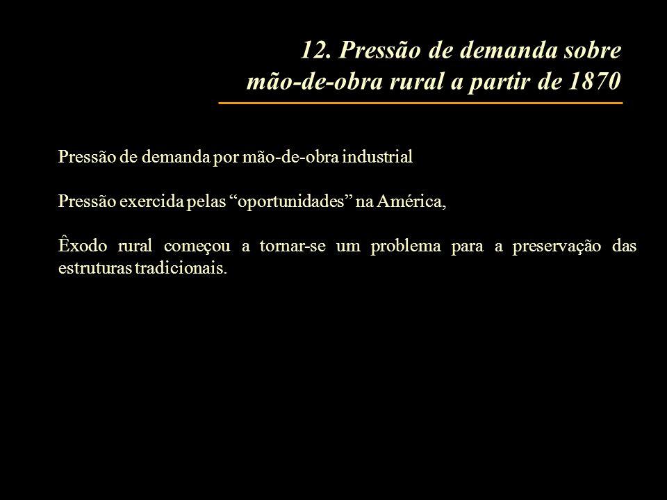 12. Pressão de demanda sobre mão-de-obra rural a partir de 1870