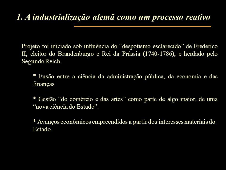 1. A industrialização alemã como um processo reativo