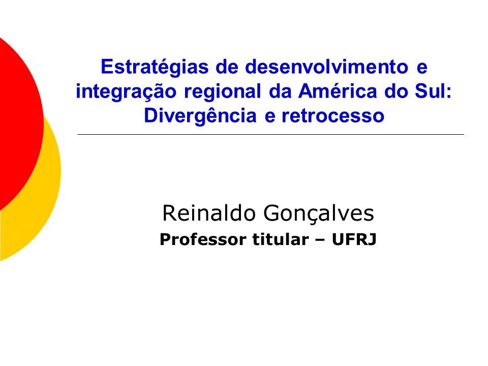Reinaldo Gonçalves Professor titular – UFRJ