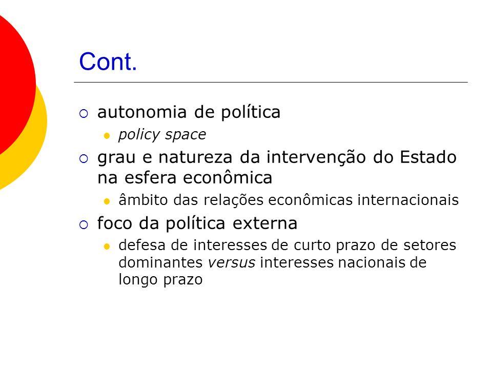 Cont. autonomia de política