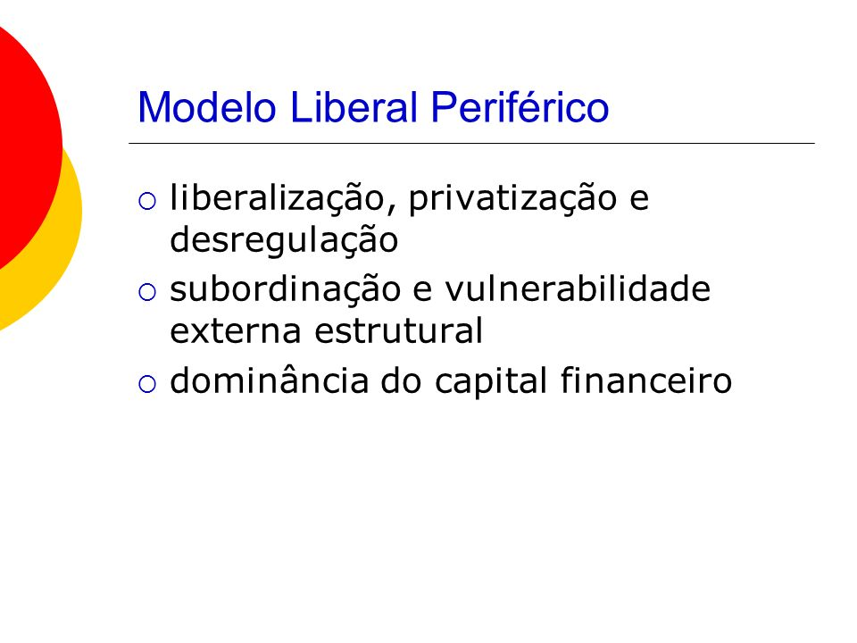 Modelo Liberal Periférico
