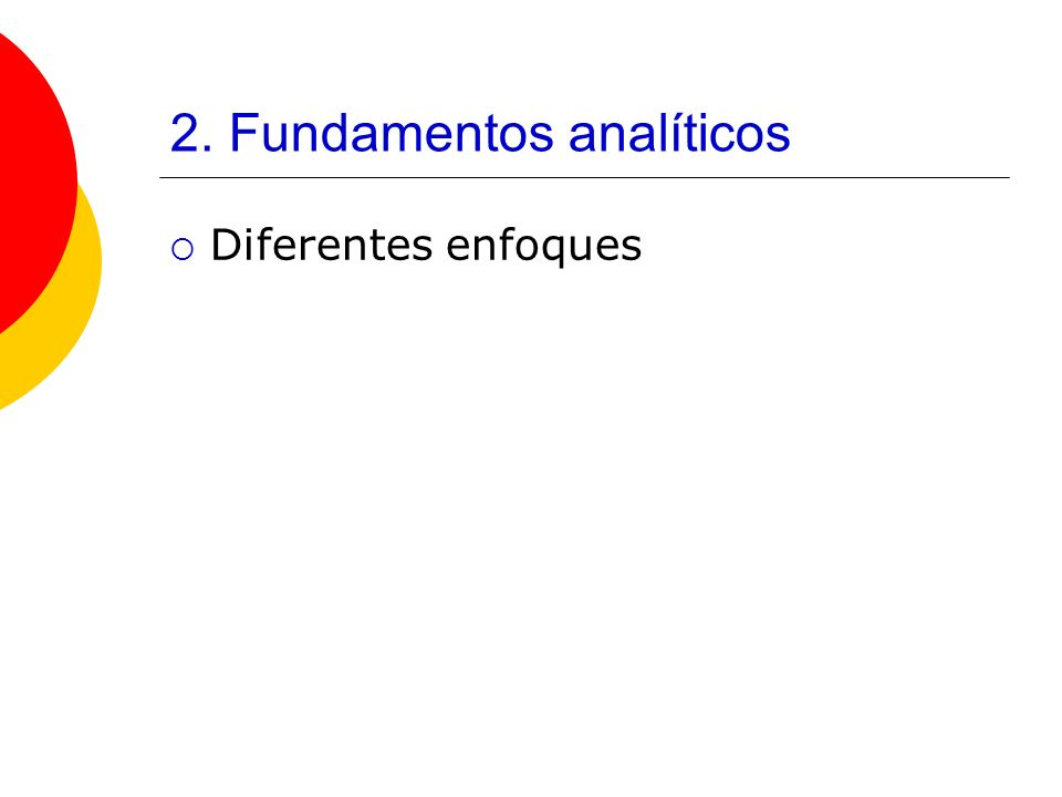 2. Fundamentos analíticos