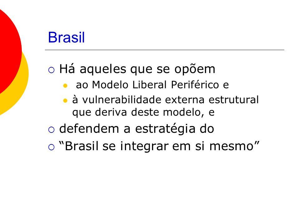Brasil Há aqueles que se opõem defendem a estratégia do