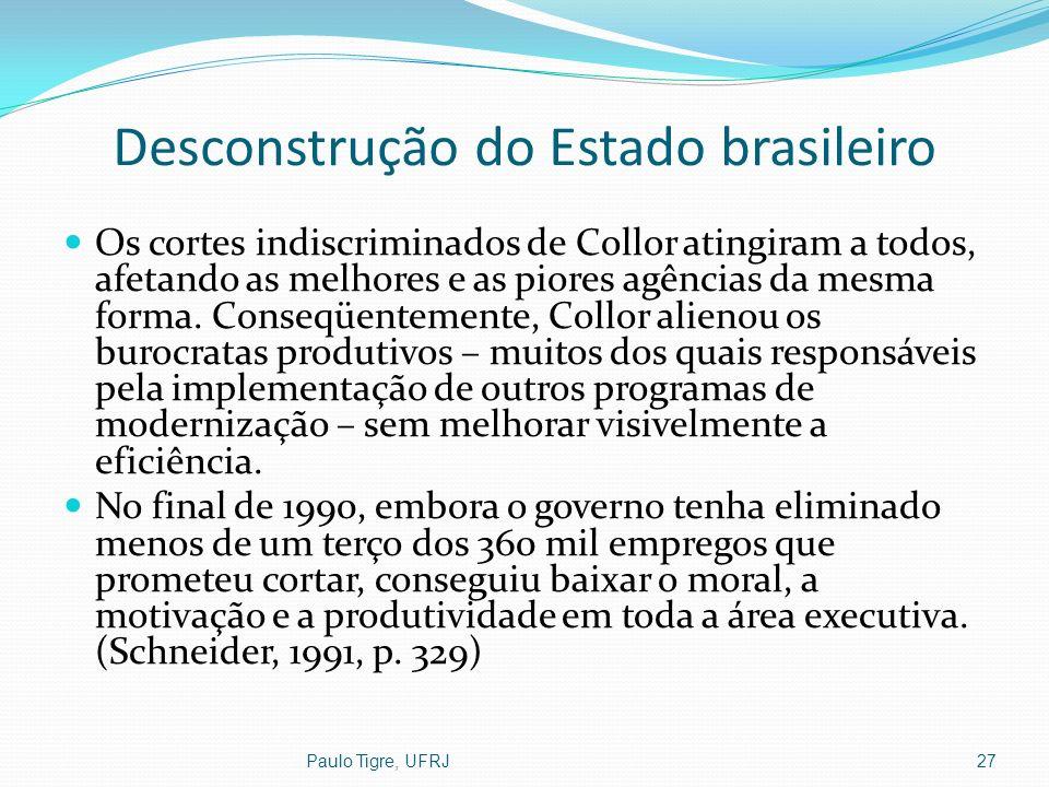 Desconstrução do Estado brasileiro