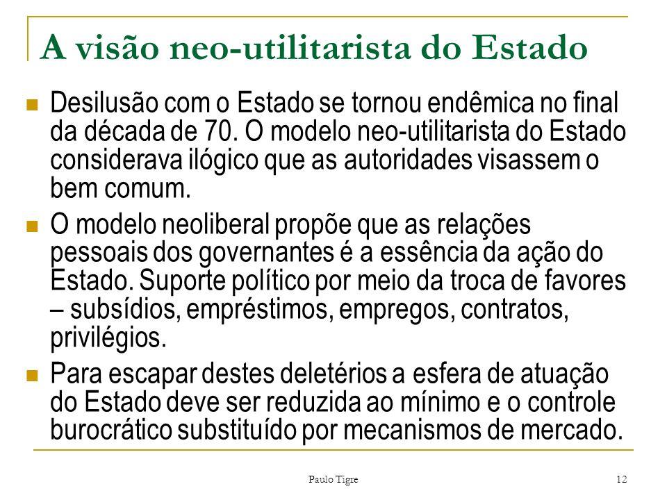 A visão neo-utilitarista do Estado