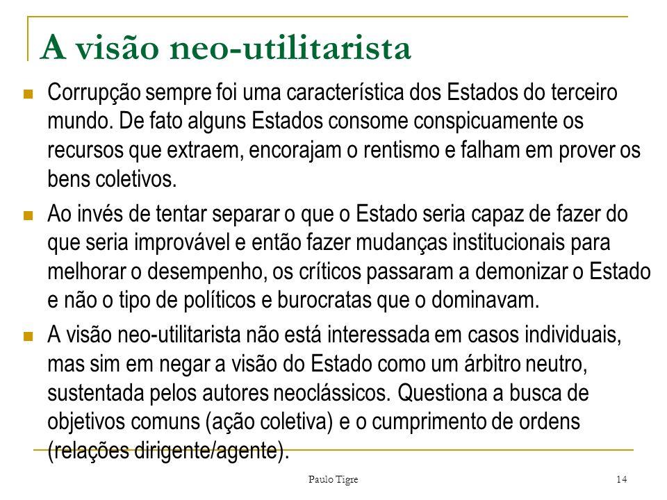 A visão neo-utilitarista