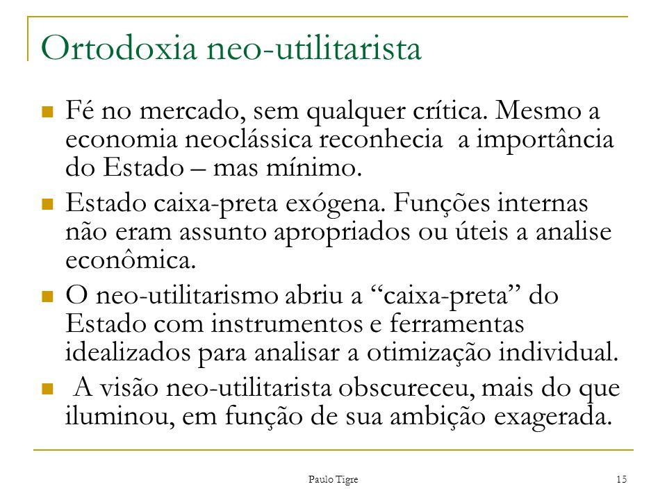 Ortodoxia neo-utilitarista