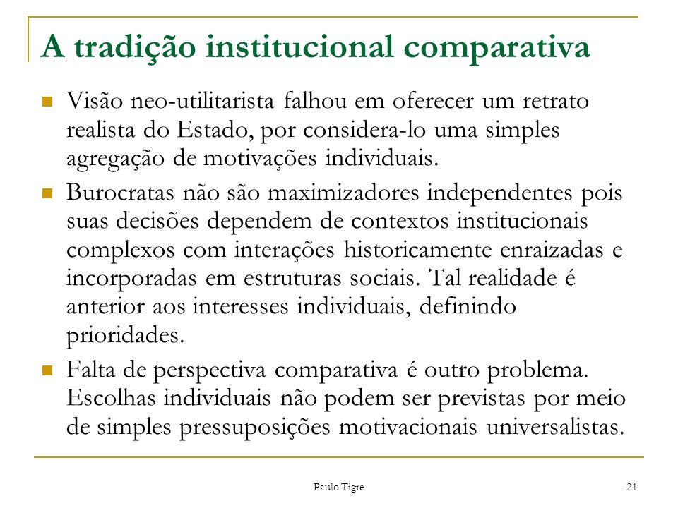 A tradição institucional comparativa