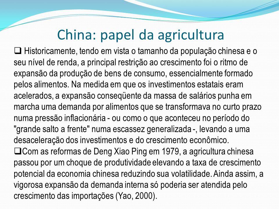 China: papel da agricultura