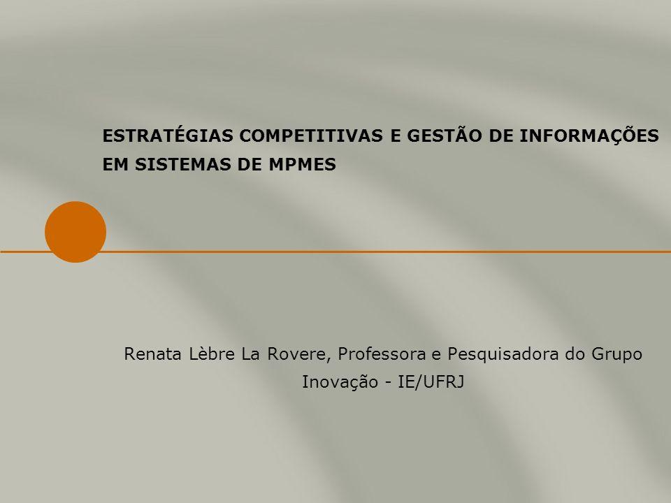ESTRATÉGIAS COMPETITIVAS E GESTÃO DE INFORMAÇÕES EM SISTEMAS DE MPMES