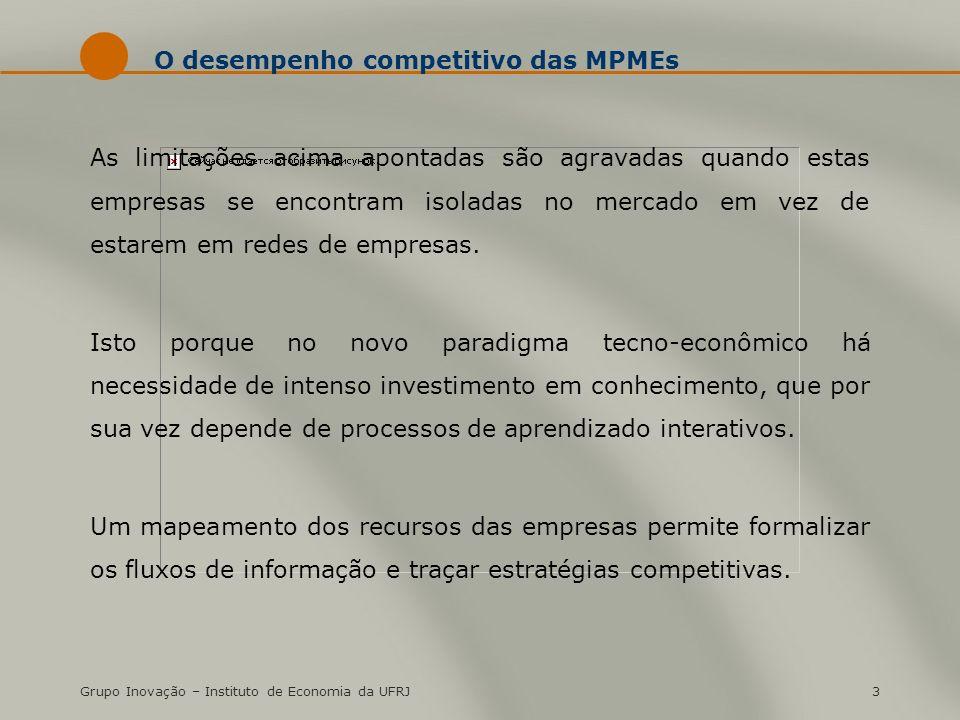 O desempenho competitivo das MPMEs