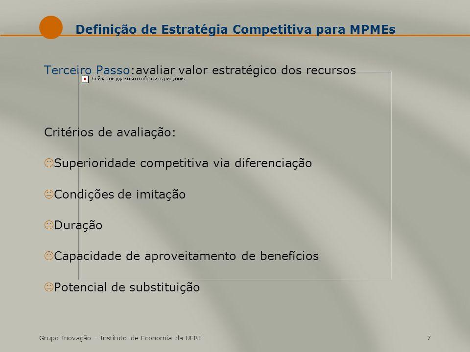 Definição de Estratégia Competitiva para MPMEs