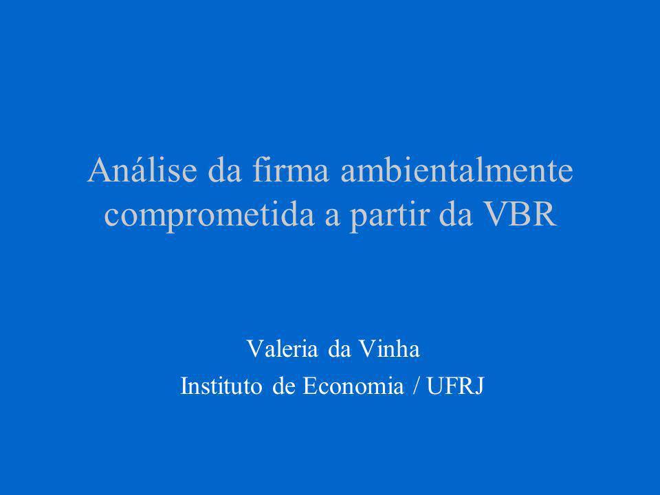Análise da firma ambientalmente comprometida a partir da VBR