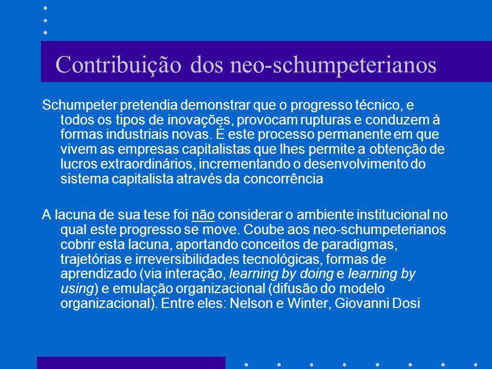 Contribuição dos neo-schumpeterianos