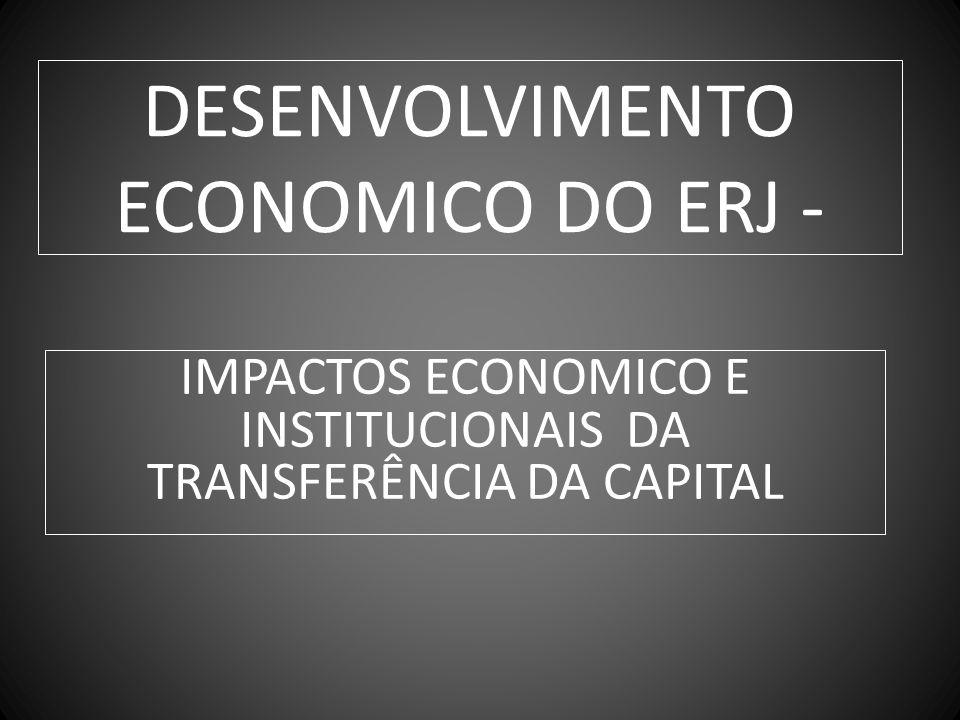 DESENVOLVIMENTO ECONOMICO DO ERJ -