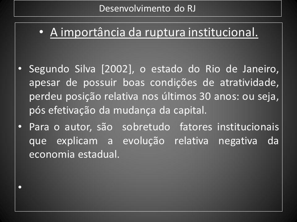 A importância da ruptura institucional.