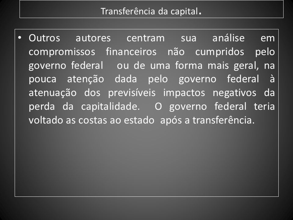 Transferência da capital.