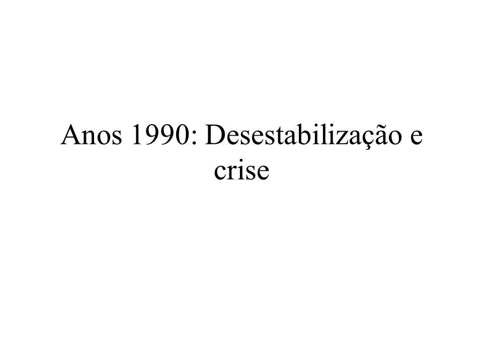 Anos 1990: Desestabilização e crise
