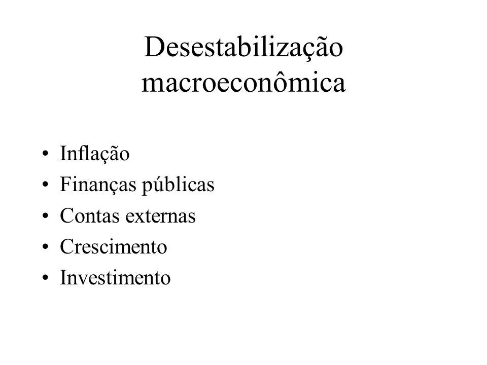 Desestabilização macroeconômica