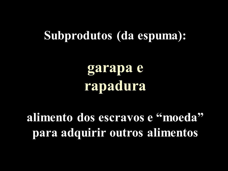 garapa e rapadura Subprodutos (da espuma):