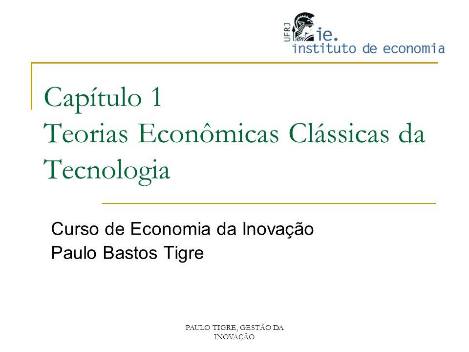 Capítulo 1 Teorias Econômicas Clássicas da Tecnologia