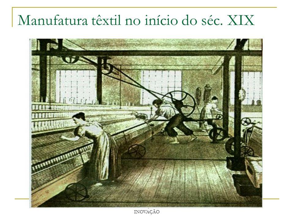 Manufatura têxtil no início do séc. XIX