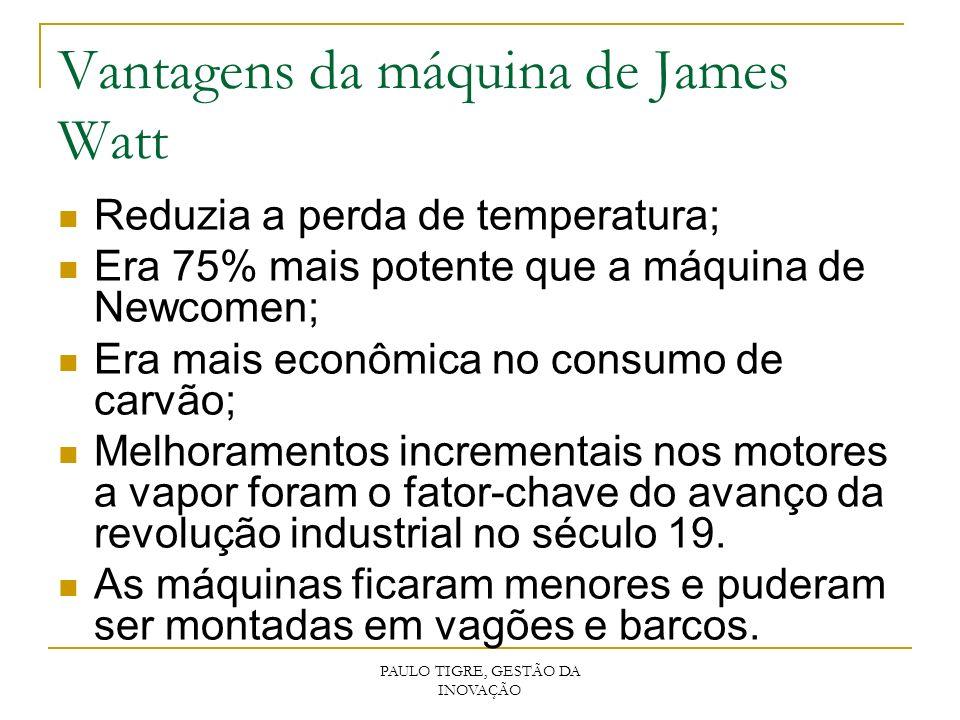 Vantagens da máquina de James Watt