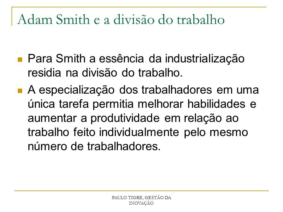 Adam Smith e a divisão do trabalho