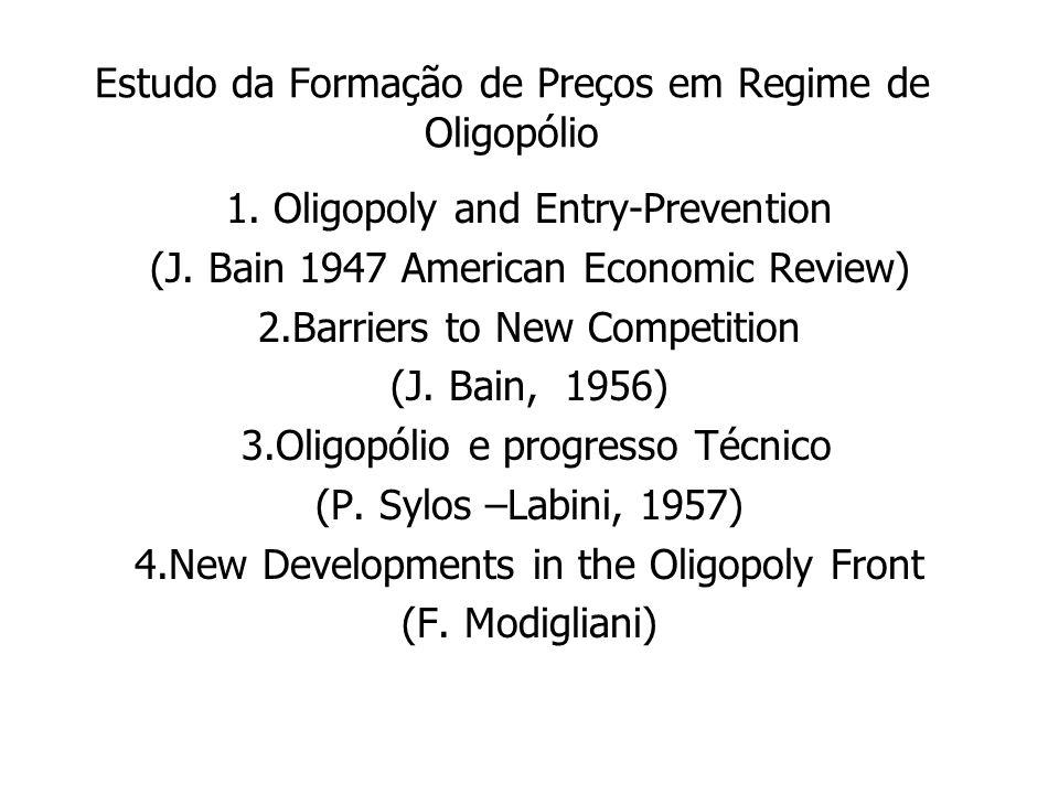 Estudo da Formação de Preços em Regime de Oligopólio