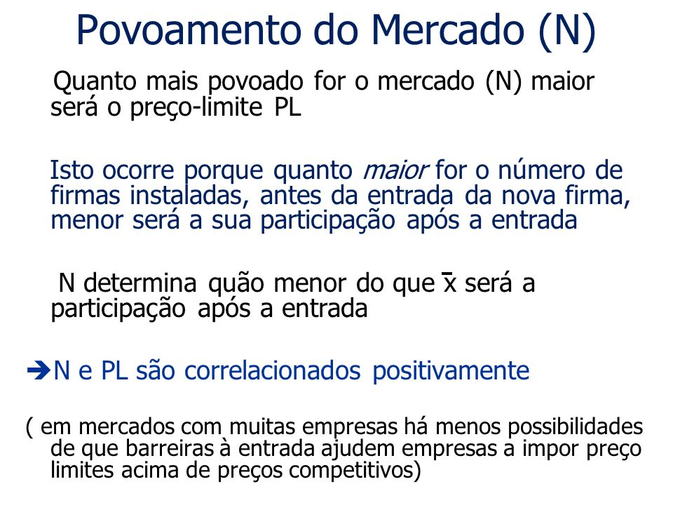 Povoamento do Mercado (N)