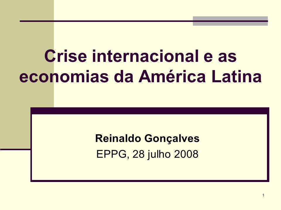 Crise internacional e as economias da América Latina