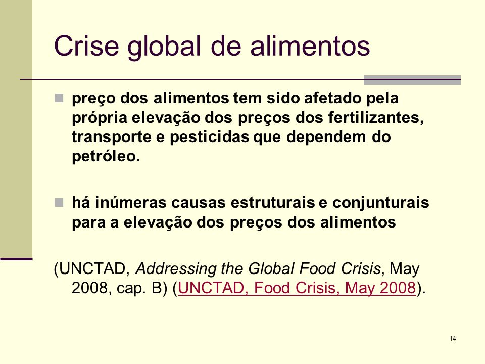 Crise global de alimentos