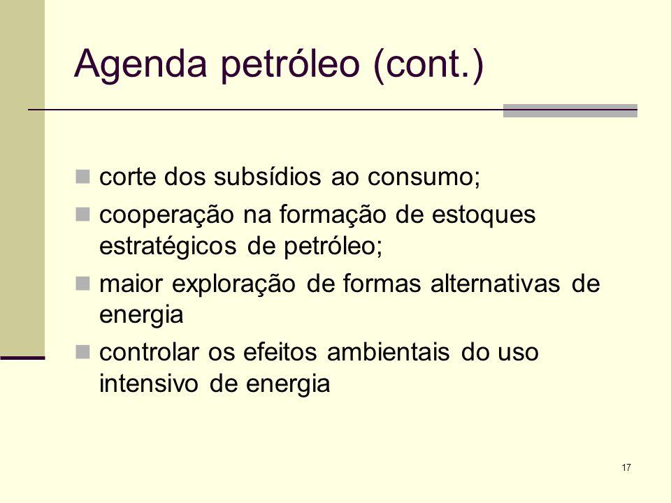 Agenda petróleo (cont.)