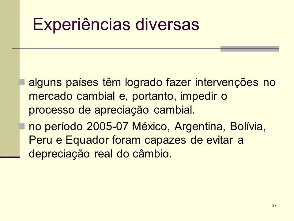 Experiências diversas