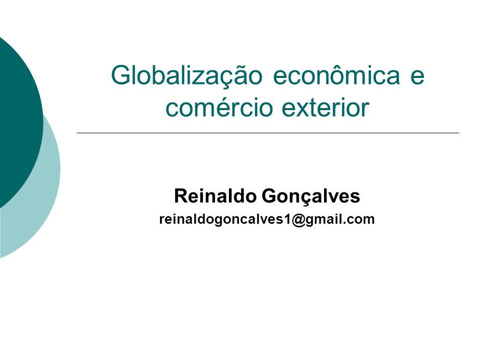 Globalização econômica e comércio exterior