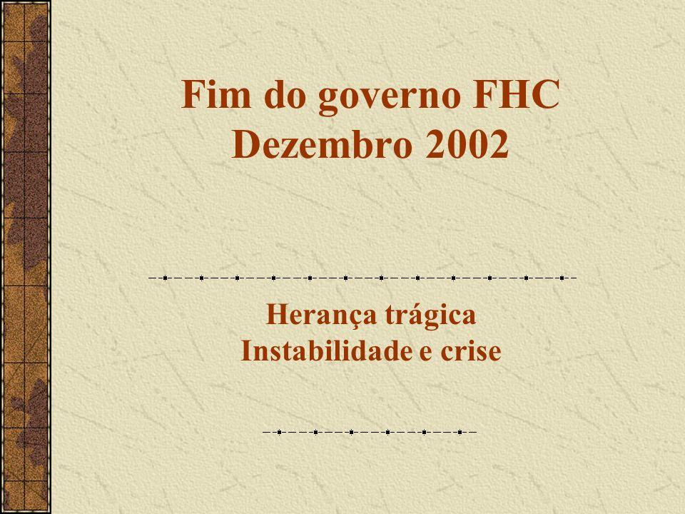 Fim do governo FHC Dezembro 2002