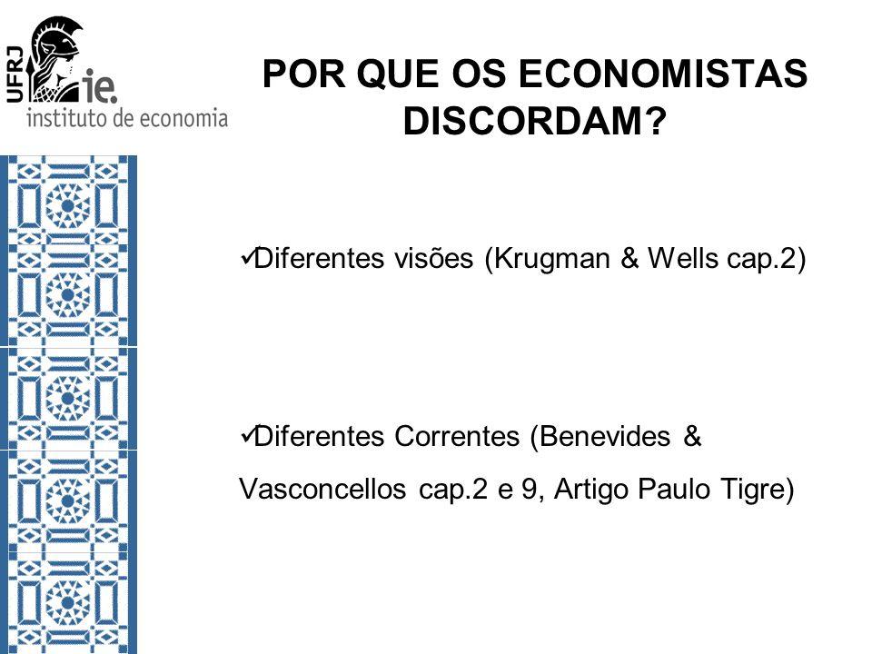 POR QUE OS ECONOMISTAS DISCORDAM