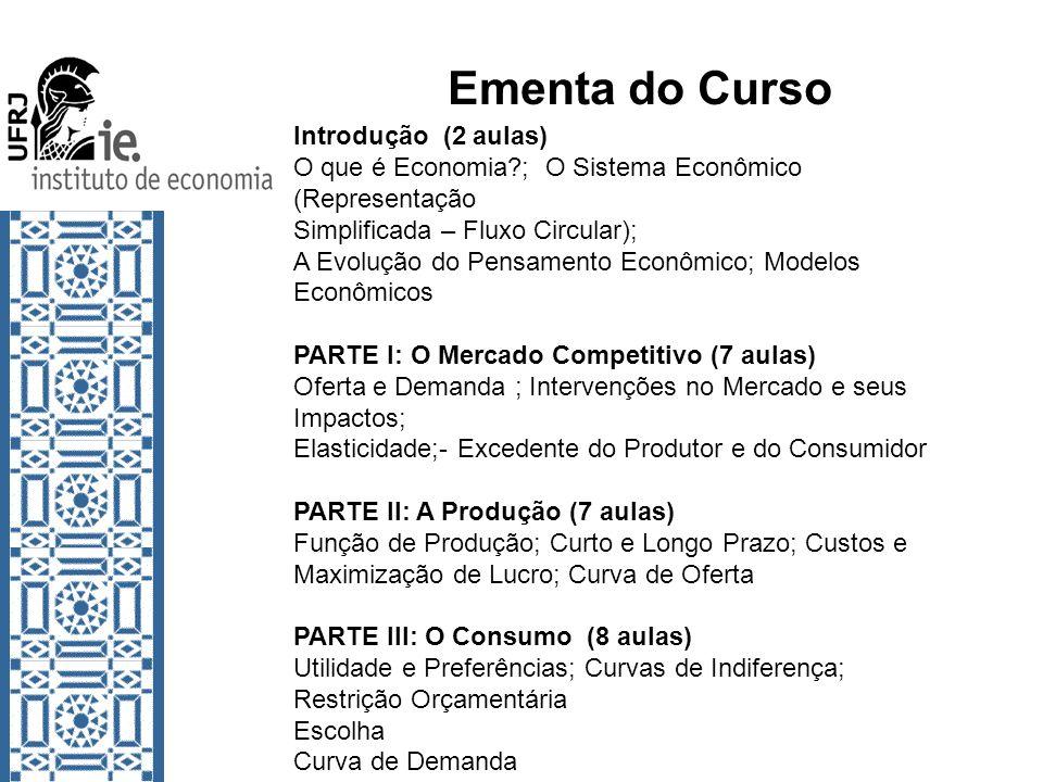 Ementa do Curso Introdução (2 aulas)