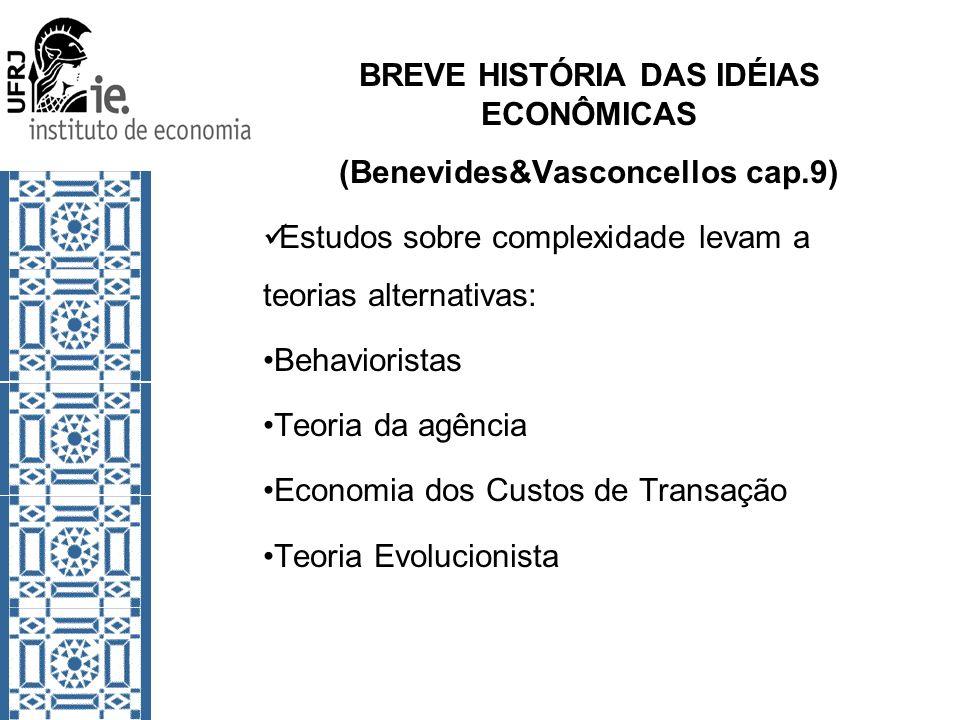 BREVE HISTÓRIA DAS IDÉIAS ECONÔMICAS