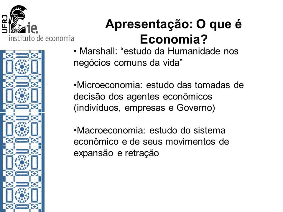 Apresentação: O que é Economia