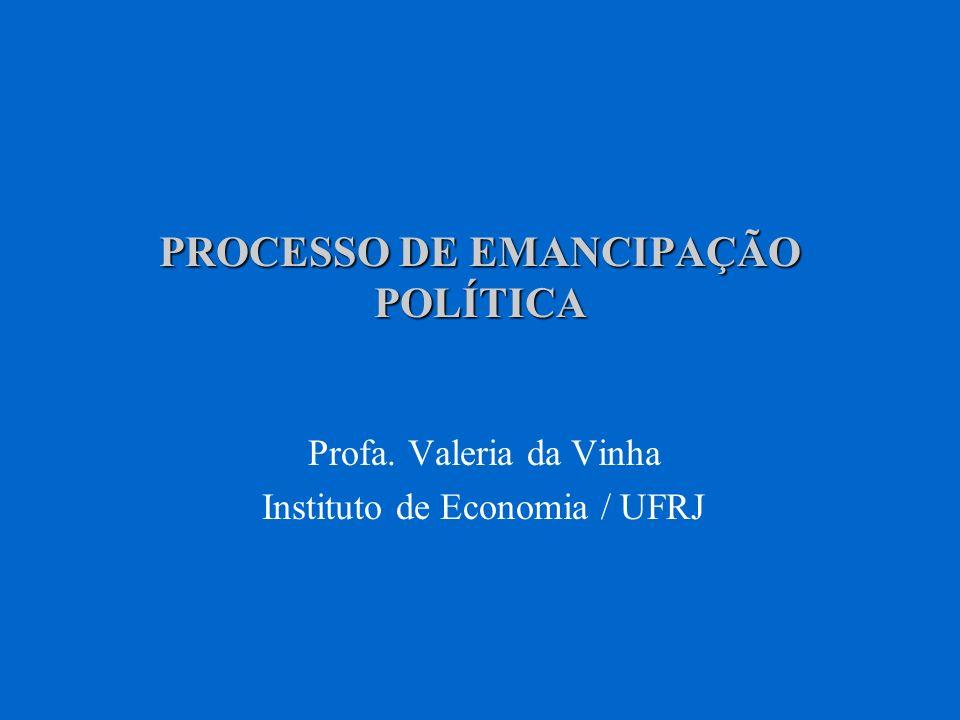 PROCESSO DE EMANCIPAÇÃO POLÍTICA